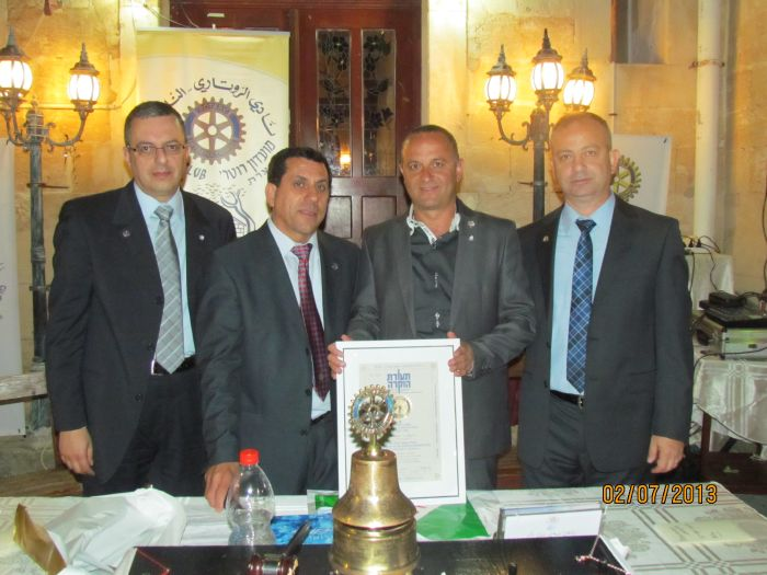 Rotary club of Nazareth celebrated the change…