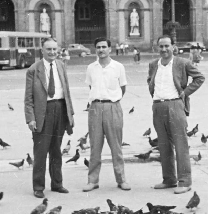 Mr. Putnam , Sami and Yusef in Venice 1955