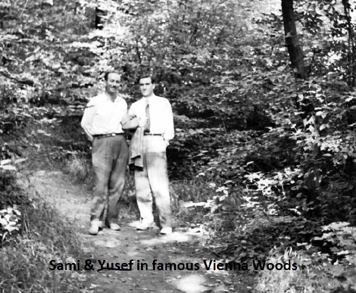 Sami and Yusef in Vienna Woods - 1955