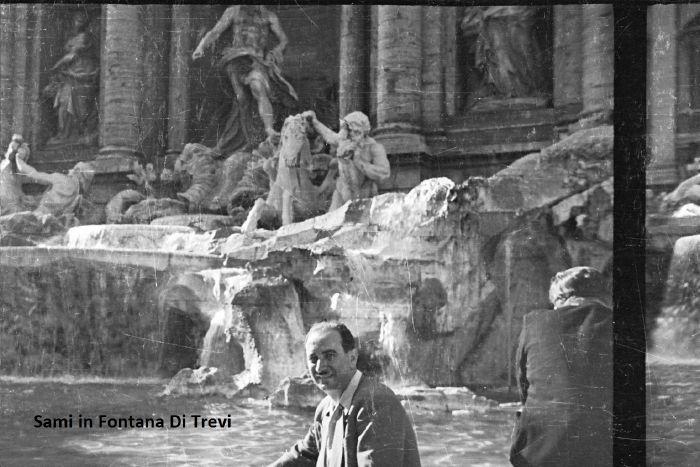 Sami in Fontana Di Trevi in Rome 1955