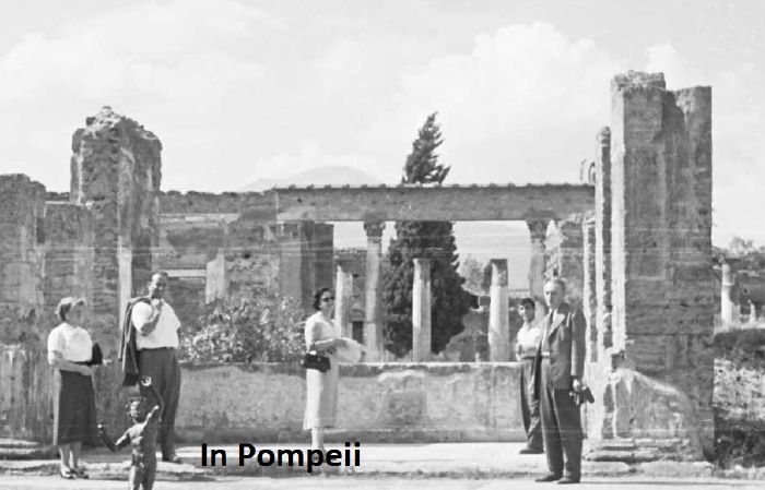 Visiting Pompeii Itgaly 1955