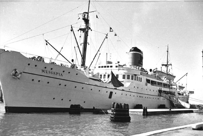 YMCA Cent. '55 Our ship MESSAPIA