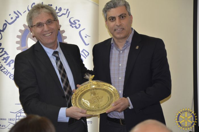ROTARY NAZARETH HOSTS PROF. RIFA`T SAFADI TO …
