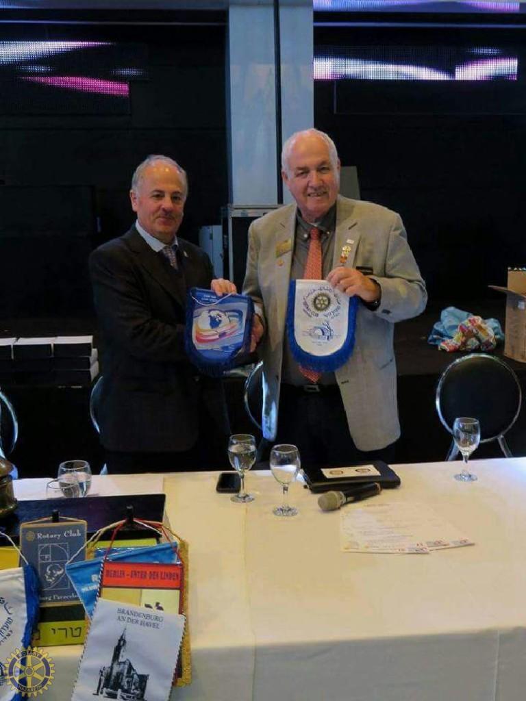 נגיד רוטרי ישראל בביקור רשמי במועדון רוטרי נצ…