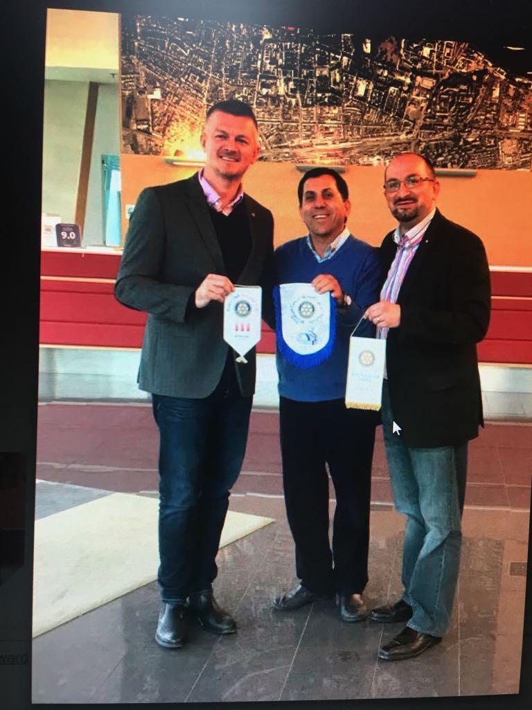 Albert Zaher visits the club of Osijek in Cro…